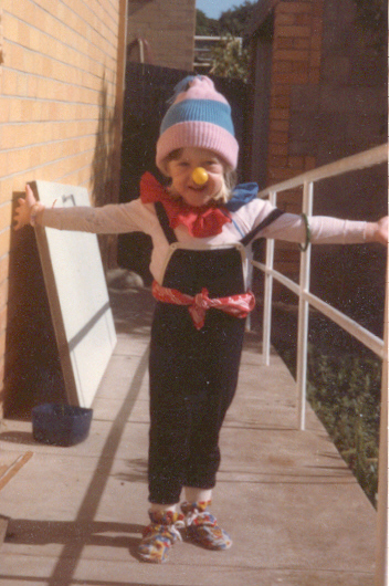 [dressed up as a clown when I was about... that]